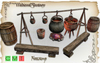 [MF] Mesh animated firecamp with cooking pot (boxed)