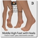Fun Affordable Middle High Feet with Heels