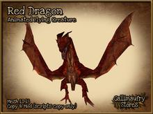 *GALLI* - MESH - Animated Flying Dragon - Red