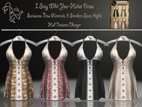 ****ArisAris AA98 I Stay Whit You~Halter Dress Hud textures chan