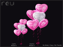 Heart Shape Balloons Happy Mother's Day (Pink)