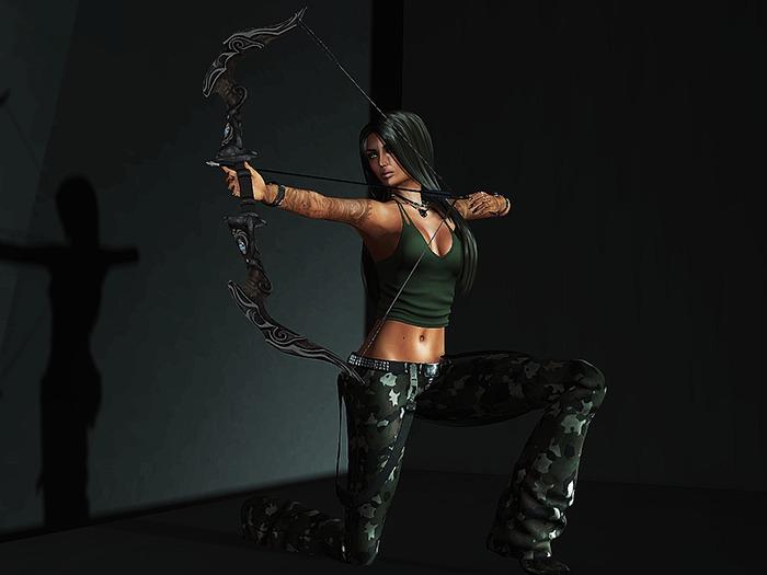 Poserz - Poison Arrow Female Archery Pose - PA002