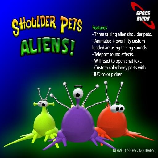 Shoulder Pets (Aliens 1) FREE!