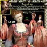 """Wunderlich's """"Drunken"""" - orange Rococo silk gown"""