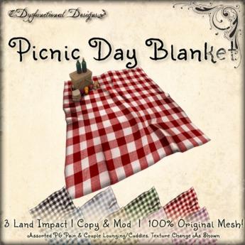 [DDD] Picnic Day Basket & Blanket
