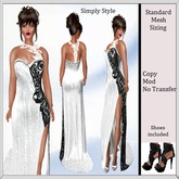 Catwalk Long Dress with shoes