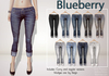 Blueberry rolled cuffs jeans2
