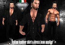 AESTHETIC complete outfit ~Italian leather