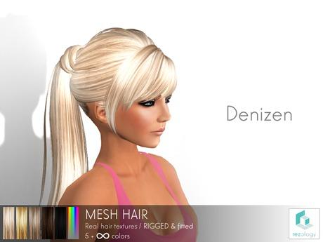 rezology Denizen (RIGGED mesh hair) SK - 557 complexity