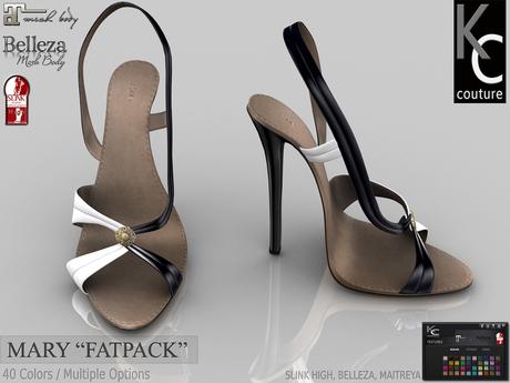 .:KC:. MARY Heels For Slink / Maitreya / Belleza High Feet / FATPACK