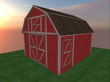 DO Small Red Barn - MESH! + Accessories!  NEW!