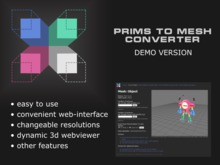 Prims To Mesh — Primitives to Meshes Converter — Demo Version