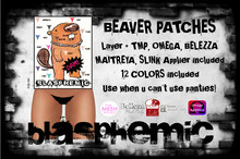 BLASPHEMIC - BEAVER PATCHES - 12 COLORS - WEAR!!!