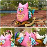 """Aphrodite """"My Sweet Baby Owl"""" - Riding rocking toy Owl for kids & babies"""