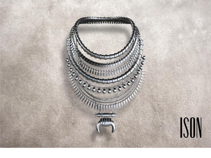 ISON - safari tribe necklace (silver)