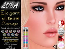 {LOBA} *Elegant* Diamond Piercing Anti Eyebrow