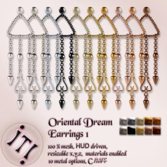 !IT! - Oriental Dream Earrings 1