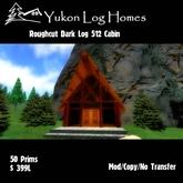 Roughcut Dark Log Cabin