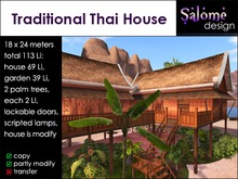 Traditional Thai House / Balinese / Asian / Oriental - Mesh