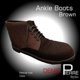 DEMO-Ankle Boots Brown MESH Pierre Styles