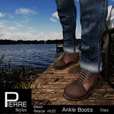 Ankle Boots Brown * Mesh- Pierre Styles