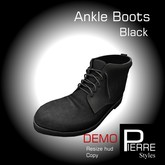 DEMO-Ankle Boots Black MESH Pierre Styles