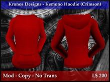 Kronos Designs - Kemono Hoodie (Crimson)