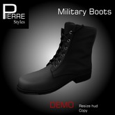 DEMO Military Boots Black mesh Pierre Styles