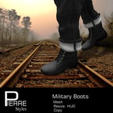 Military Boots Black *mesh- Pierre Styles
