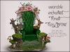 Boudoir-Wearable Enchanted Forest Fairy Throne