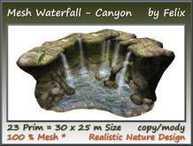 Mesh Waterfall-Canyon 23 Prim=30x25m Size copy-mody