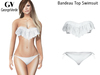 Full Perm Rigged Mesh Bandeau Top Swimsuit For Busty Shapes