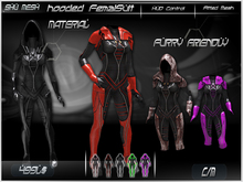 hooded FemalSuit (furry friendly)-Shu Mesh-