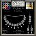 Beloved Jewelry : Kiri Set (Texture Change Earrings, Necklace, Bindi) Choice of Metals, 12 Gem Choices. Amethyst