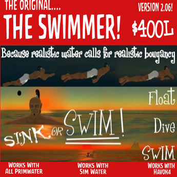 The Swimmer 2.06 from Waterworks - Swim in prim OR sim water.