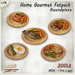[Ginger Line] Home Gourmet round plate Fat Pack - 5 dishes, 1 prim LI each