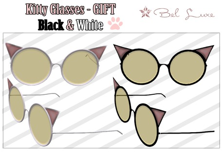 Bel Luxe - KITTY Glasses - GIFT - B&W