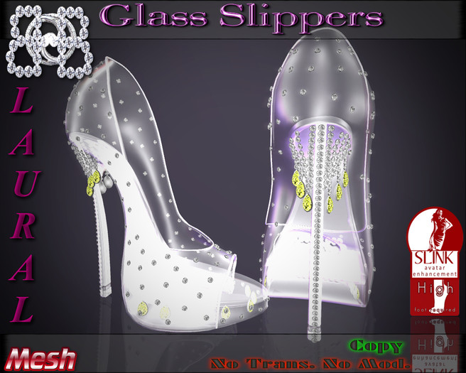 !!BHB!!  (Sale) Glass slipper LAURAL YELLOW