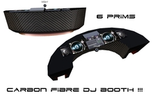 CARBON DJ booth - 6 prims deejay booth - dj booth