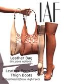 IAF Leather Bag (Burgandy)