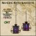 Hanging Gypsy Lanterns - Purple