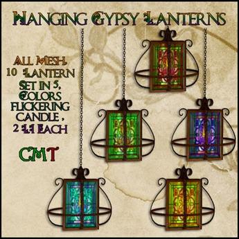 Hanging Gypsy Lanterns - Fat Pack