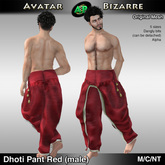 AB Dhoti Pants Male Red