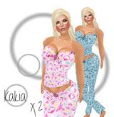 Kakia Designs Two Pair Cotton Kitty Pajama's