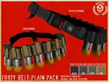 """SISU\\ """"Forty"""" Grenade Belt: PLAIN PACK 1"""