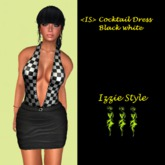 <IS> Cocktail Dress Black White