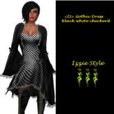 <IS> Gothic Dress Black/white Checkered