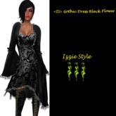 <IS> Gothic Dress Black Flower