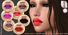 - Loux - Lipstick Mikaela all 7 tones - The Mesh Project Lips applier + tattoo layer