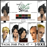 -Facial Hair Pack #1- From Wylde Style by Khyle Sion